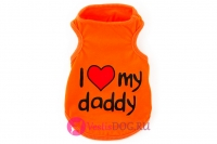 Майка оранжевая I love my daddy